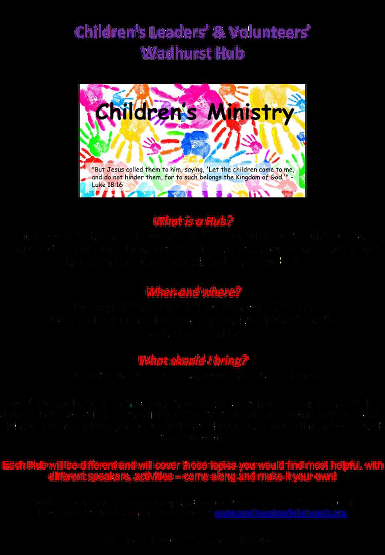 Children's Leaders' & Volunteers' Wadhurst Hub